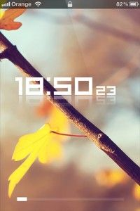 Yellow Leafs & Clock iPhone Theme