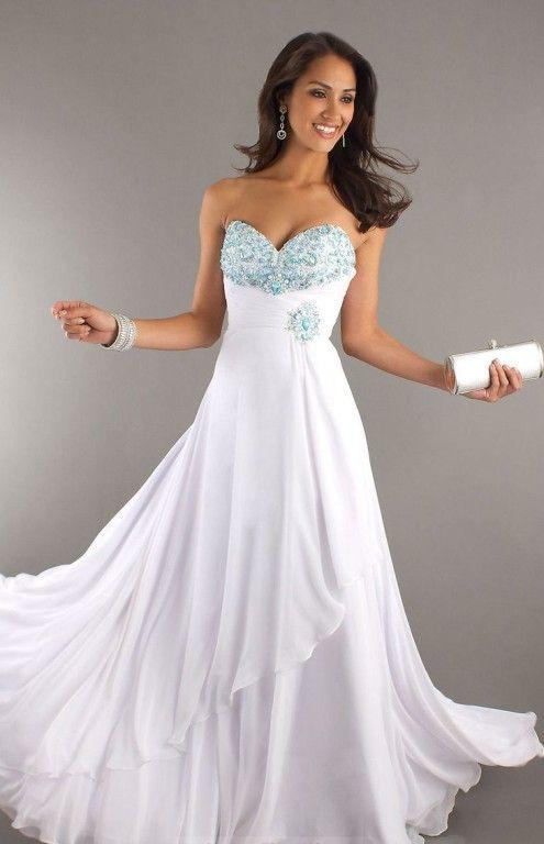 89 best White Prom Dress images on Pinterest | Prom dresses, Short ...