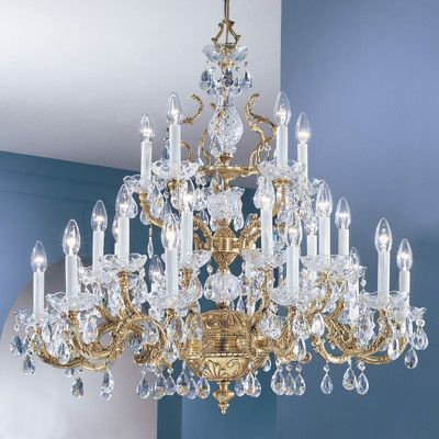 Classic Lighting Madrid 25 Light Crystal Chandelier Type Swarovski Elements Golden Teak Finish