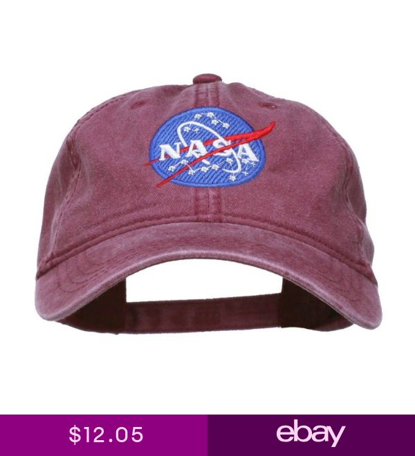 5cd82b7741f NASA Insignia Embroidered Pigment Dyed Cap Maroon One Size ...