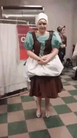 WATCH THE VIDEO!!!! She won Halloween people she won