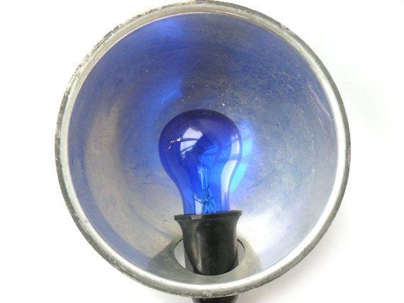 #Vintage Medical Infrared Reflector Lamp Blue Light Therapy,Soviet light blue light, reflector Minin, Flashlight, Floodlight, Lamp for photos.  Blue Light Therapy, Working C... #etsy #vintage #gift #nostalgishop #accessories #retro #giftforher #forhim
