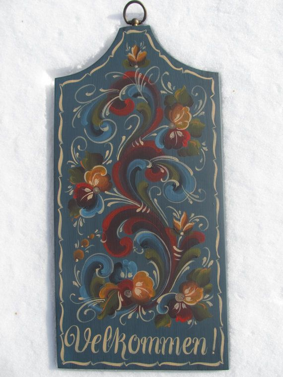 Norwegian Rosemaling in Telemark Style by Folkartbycathy on Etsy, $95.00