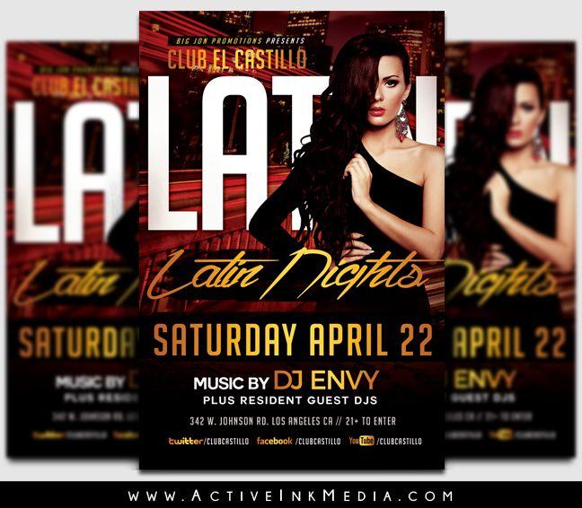 Latin Saturday Nights Night Club. www.activeinkmedia.com