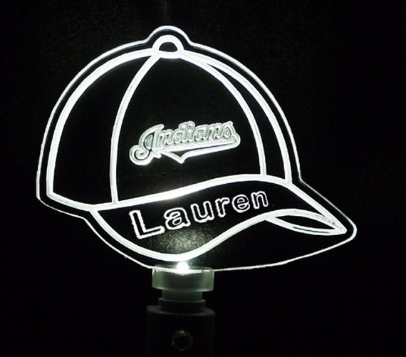 baseball cap led lights personalized custom night light with team sports caps built in brim uk
