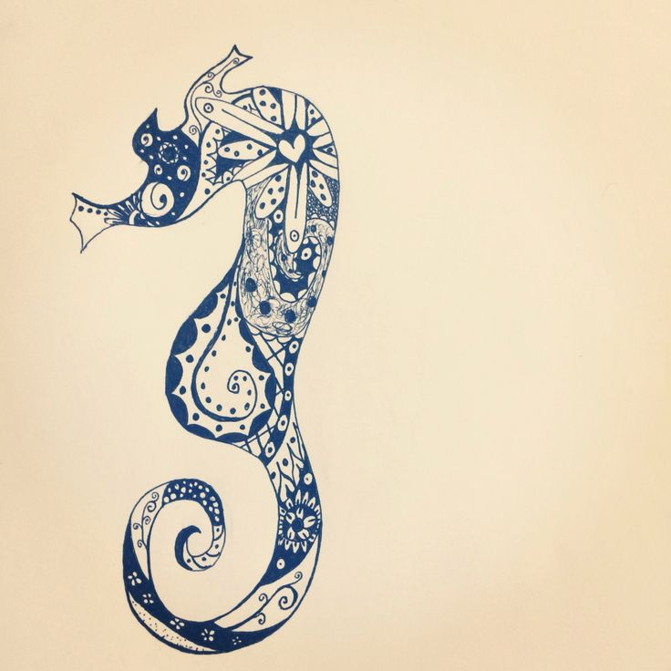 Paisley Seahorse Tattoo Design Team Tatted Pinterest