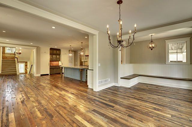 Manomin Antique Oak Flooring In Unfurnished Kitchen And Living