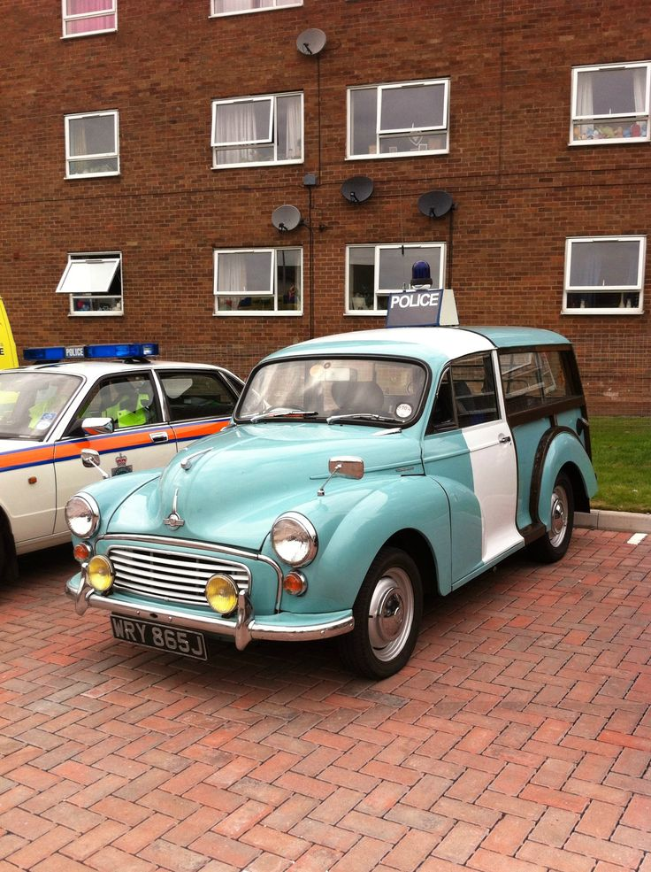 An old Morris police car from the 50's/60s British