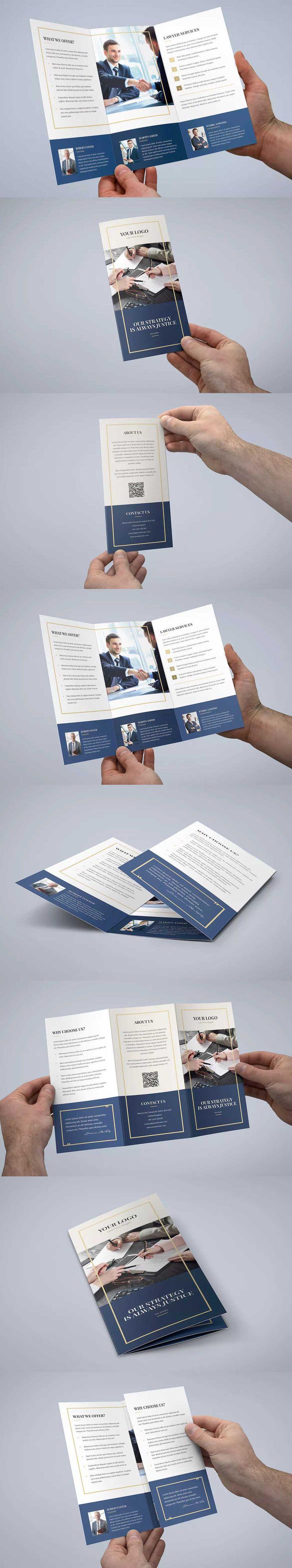 Law Firm Tri Fold Brochure Template PSD