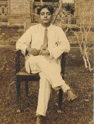 Satyendra Nath Boseat Dacca University (now Dhaka) in Bangladesh in the 1930s. [click pic to read about the namesake of bosons, as in Higgs' boson].