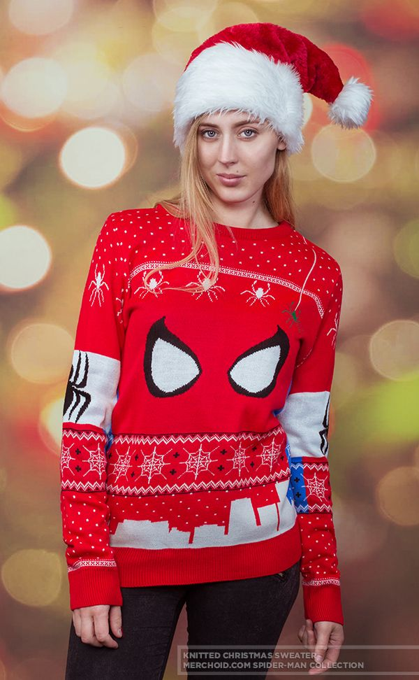 (affiliate link) Spider-man: Knitted Unisex Christmas Sweater/Jumper Preorder