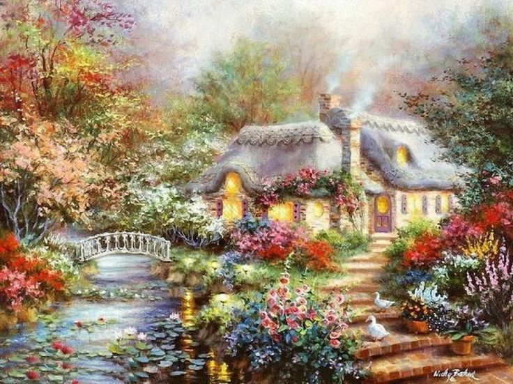 Lovely Painting By American Painter Nicky Boehme