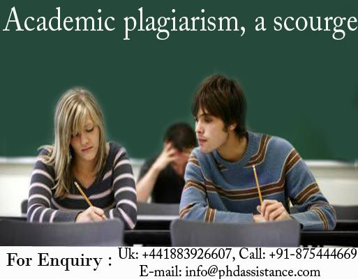 In academic, research area involving any significant breakthrough comes under the ambit of plagiarism. The knowledge contribution by the researcher is intellectual property, which must not be used or copied elsewhere without taking into the cognizance of original author or source. Contact us http://www.phdassistance.com/