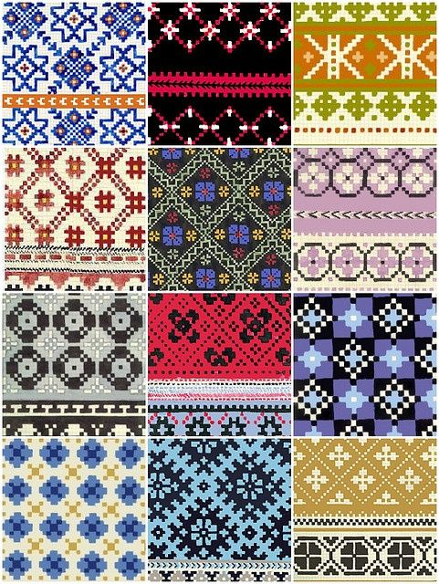Latvian mitten patterns..