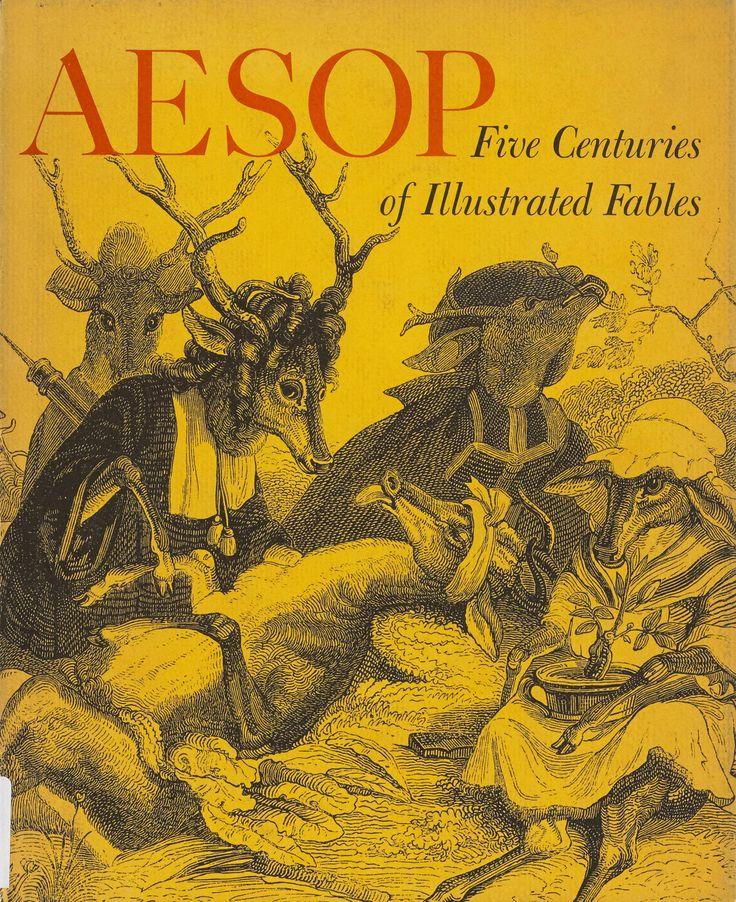 "Cover of ""Aesop: Five Centuries of Illustrated Fables."" 1964. Metropolitan Museum of Art (New York, N.Y.). Metropolitan Museum of Art Publications. #aesop#fables"
