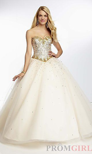 Full Length Sweetheart Ball Gown at PromGirl.com