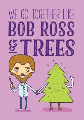 Bob+Ross+&+Trees+Card+