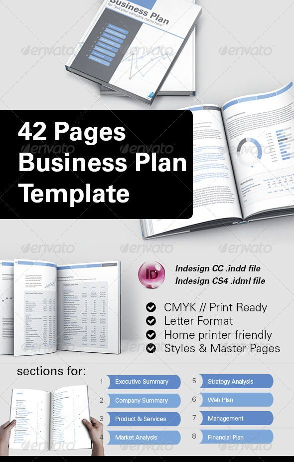 42 business plan template for indesign