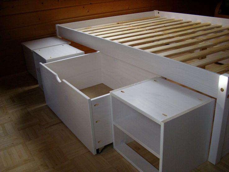 Untergestell mit Schubladen für ein Bett                                                                                                                                                                                 Mehr