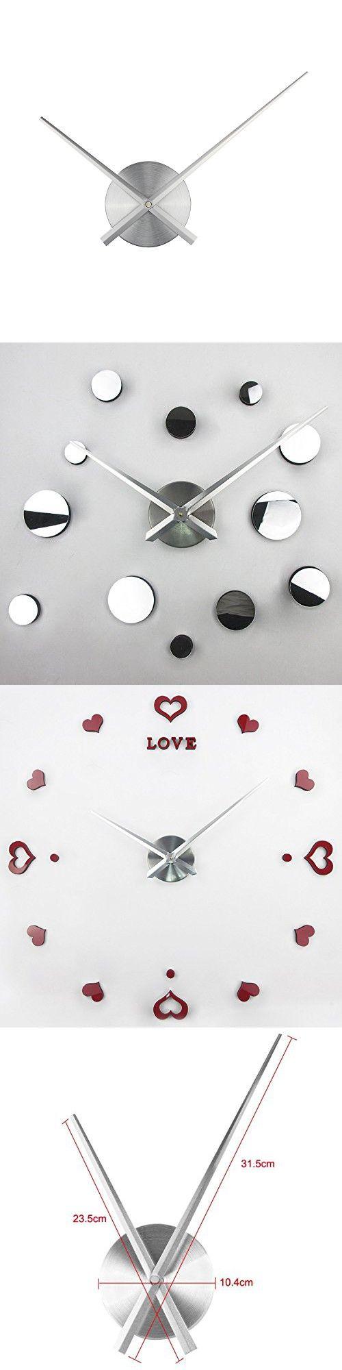 The 25 best large decorative wall clocks ideas on pinterest big 3d clock hands timelike diy large clock hands needles wall clocks 3d home art decor amipublicfo Images