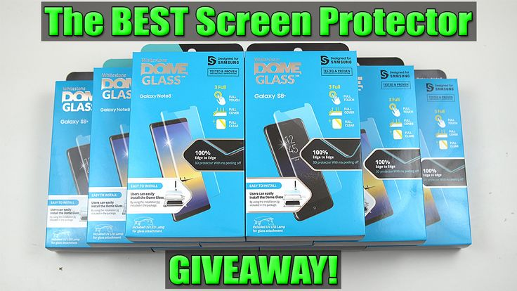The Best Tempered Glass Screen Protector for Galaxy S8 Plus!