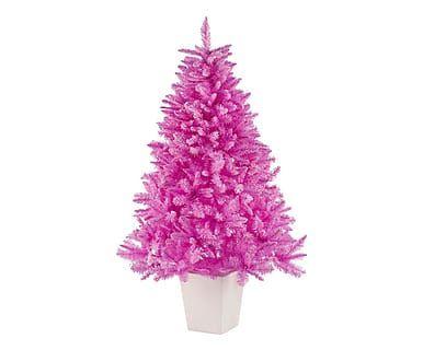 Albero artificiale con vaso in PVC Lucrezia rosa, 100x160 cm