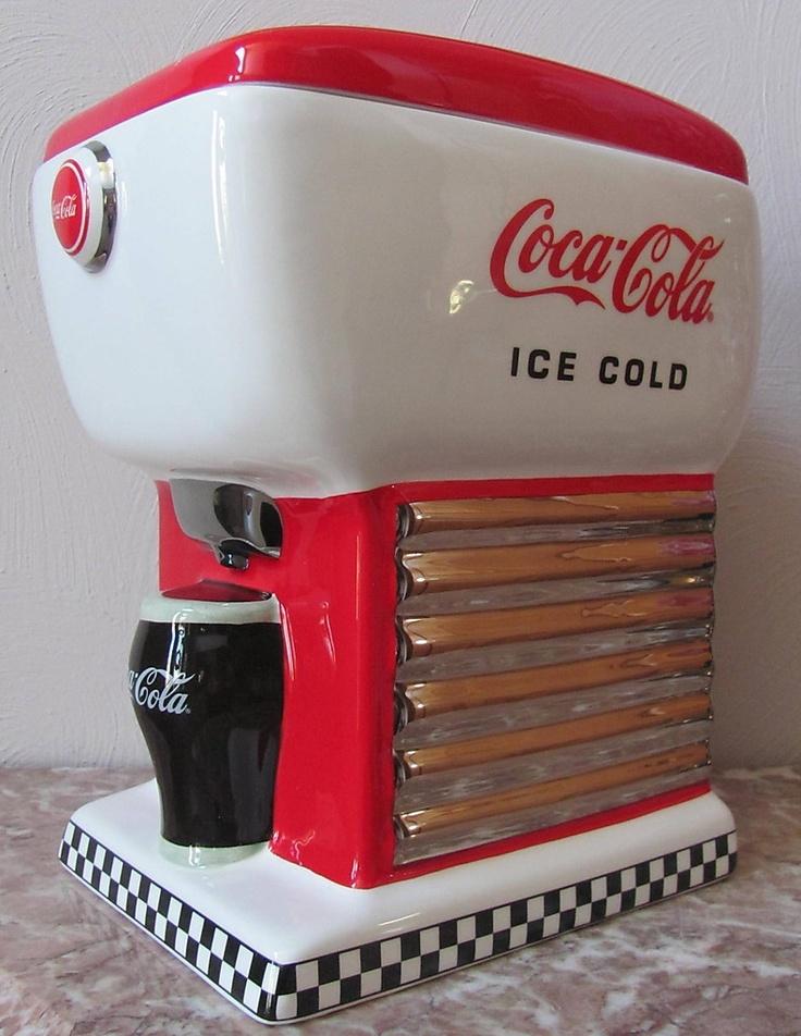 ❤Coca-Cola 1997 Fountain Dispenser Cookie Jar