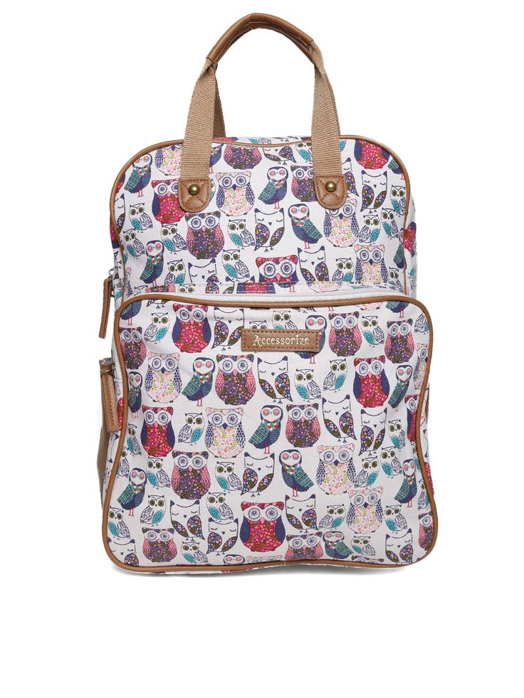 Myntra Accessorize Women Off-White Printed Backpack 745852 | Buy Myntra Accessorize Backpacks at best price online. All myntra products with price trends shop online on desktop