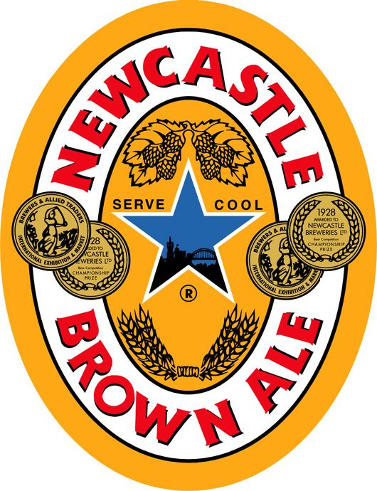 Newcastle brown label | ... in place at the centre of the Newcastle Brown Ale bear bottle label