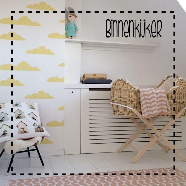 Het is een van de eerste dingen waar je aan begint, het babykamertje! Ik koos voor het gele wolkjes Roomblush behang Sweet Clouds yellow.