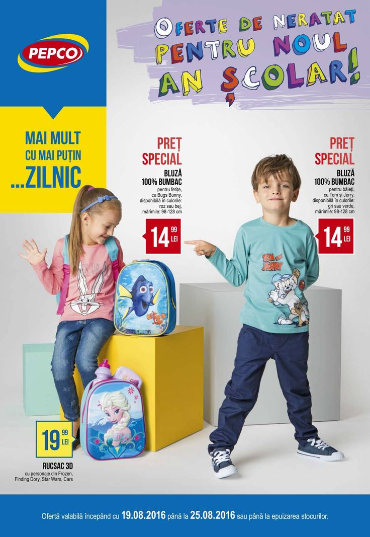 Catalog Pepco Oferte Scoala 19 - 25 August 2016! Oferte si recomandari: bluza…