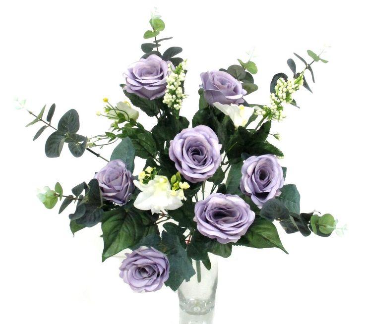 Zöldvilág Webáruház - vegyes virágú selyemvirág csokor, lila - http://www.selyemviragok.hu/index.php?id=2017&lapszam=0
