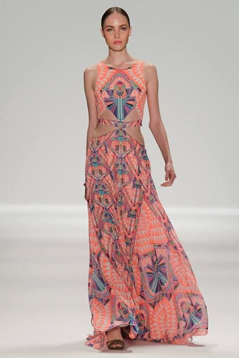 Mara hoffman spring 2014, very special maxi dresses, boho brights