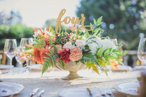 Tischnummern Hochzeit Tisch Nr. von JuliesElegantCrafts auf Etsy