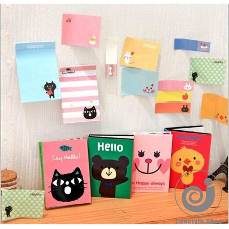 2pcs/lot cartoon kawaii foldable paper sticker post it memo pad korean stationery notepad papelaria-in Memo Pads from Office & School Supplies on Aliexpress.com | Alibaba Group