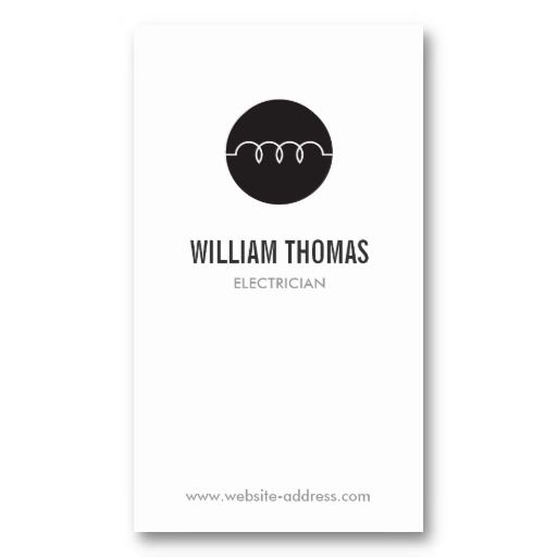 31 best business cards for electricians electrical for Electrician business cards templates free