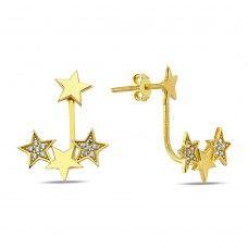 Altın 3 Yıldız Küpe EJ3027