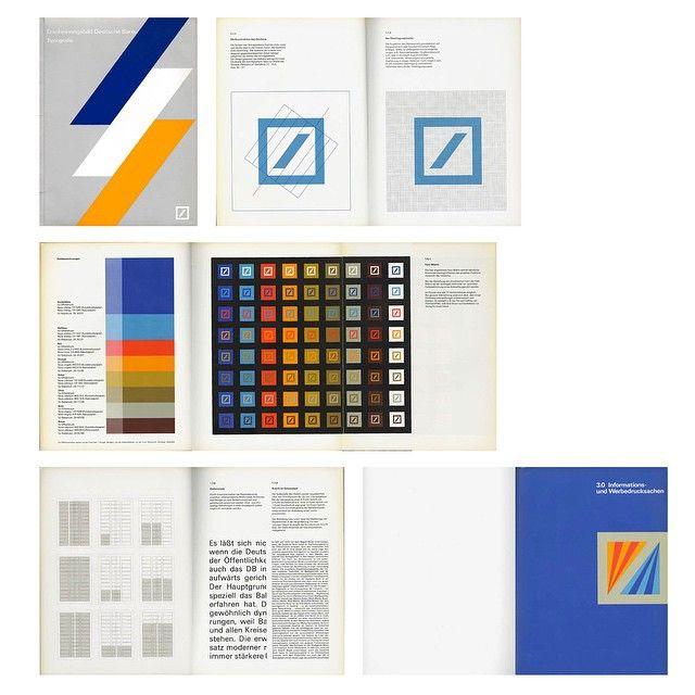 """as119: """"The Deutsche Bank design manual by Anton Stankowski is now available as hires PDF at http://ift.tt/1J8806H """"Erscheinungsbild Deutsche Bank. Typografie."""" was released in 1978, articulating Stankowski's design systems for Deutsche Bank...."""