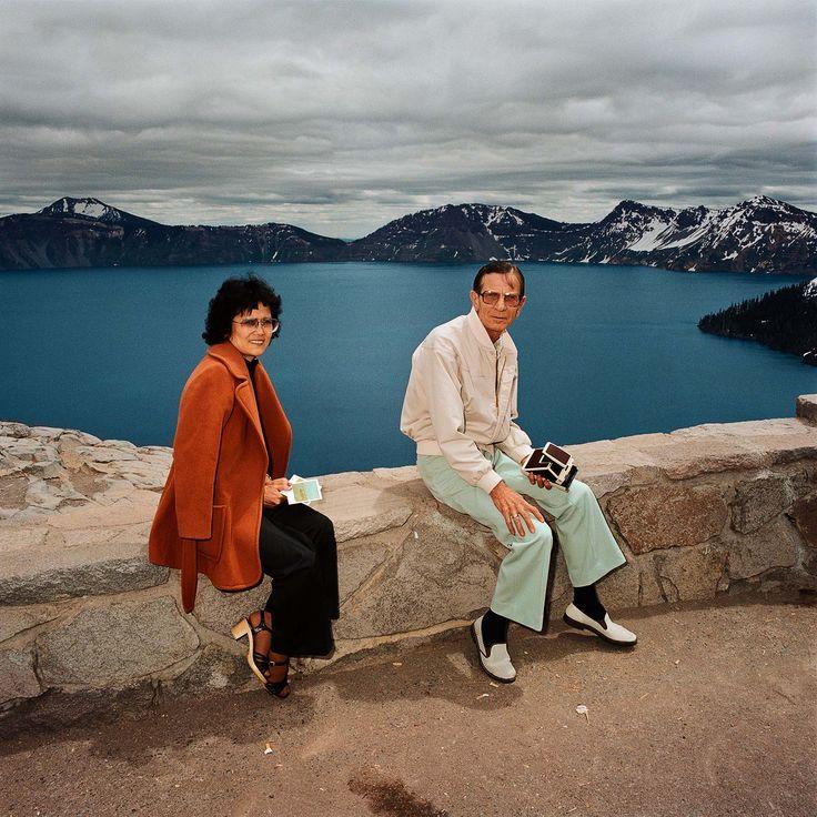 Couple Taking Polaroids, Crater Lake National Park, OR 1980