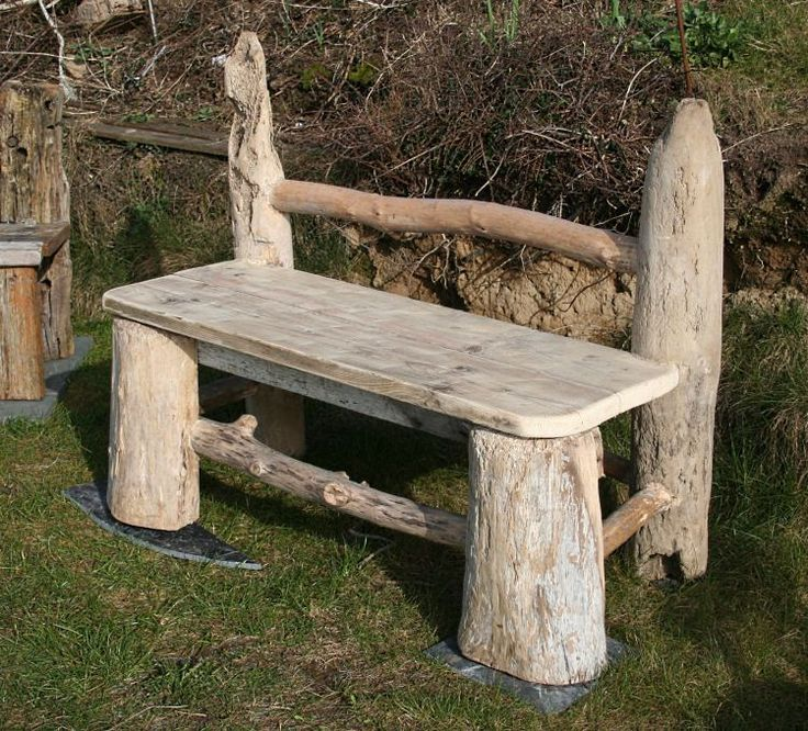 Epoxy Driftwood Table: Driftwood Bench