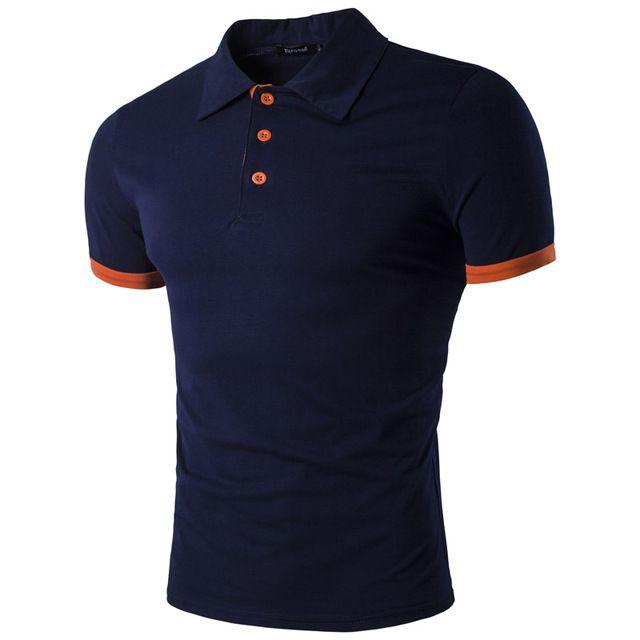 Nuevo 2017 moda ropa de marca polo homme sólido camisa de polo al por mayor camisa ocasional de los hombres tee tops de algodón slim fit camisa de polo xxl Q