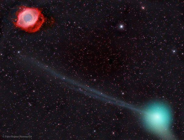 Комета PanSTARRS и туманность Улитка / Astro Analytics