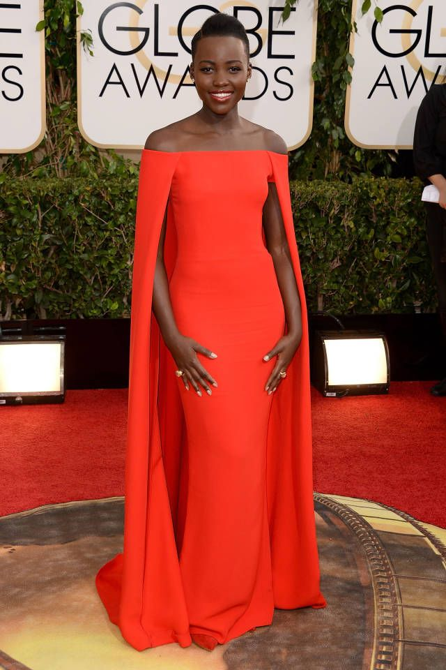 25 game-changing red carpet gowns that shaped fashion in 2014: Lupita Nyong'o in Ralph Lauren