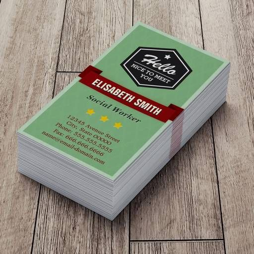 The 2565 best custom business card templates images on pinterest hello nice to meet you vintage retro stylish business card reheart Images