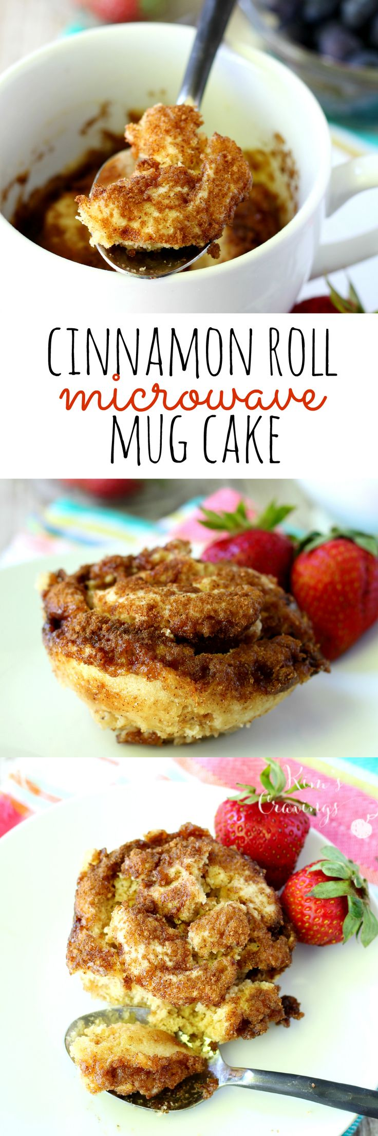 This easy cinnamon roll microwave mug cake is the perfect treat when you're craving a little something sweet!
