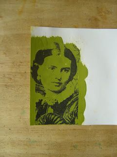 The Technique Zone: Acrylic Paint Transfer:  so easy!  All I need is a copied image, acrylic paint, water spray bottle and paper or something to put it on.