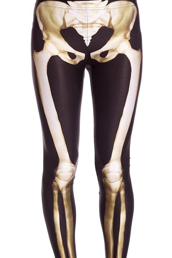 Designer Skeleton Leggings / XSSML / Tight And Very by BADINKA