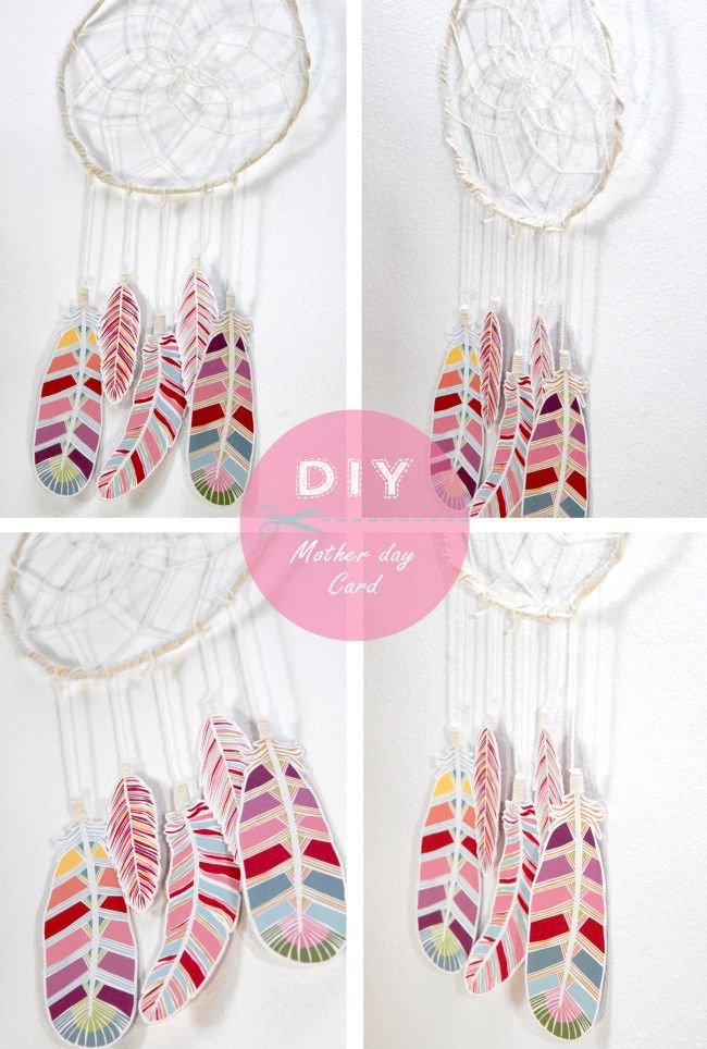 DIY dream catcher. Change colors to match room.