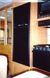 Atwood 6 Cubic Ft RV Refrigerator Black Acrylic Panel Set