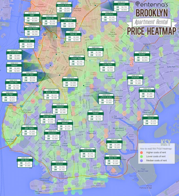 Apartments For Rent Map: What It Costs To Rent In Brooklyn, New York Today